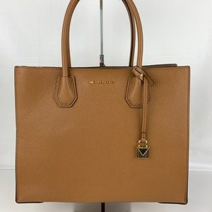New Michael Kors Mercer Tan Leather Tote